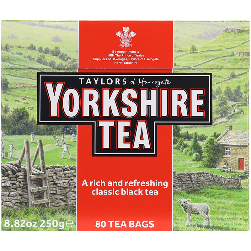 约克夏红茶包进口英式奶茶超提神 Yorkshire Taylors 泰勒 英国茶