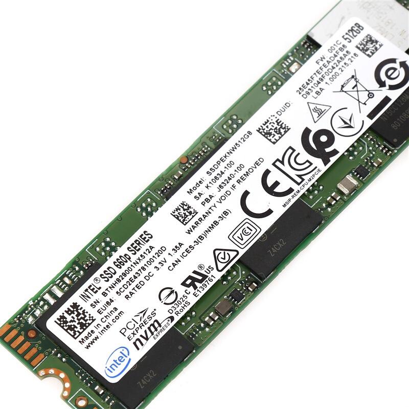 2280 固态硬盘 1TB 笔记本台式机 SSD E PCI M.2 1T 660P 英特尔 Intel