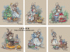 Small house cross stitch, authentic French DMC thread, grandmother rabbit series, cute rabbit grandmother grandmother hanging pictures