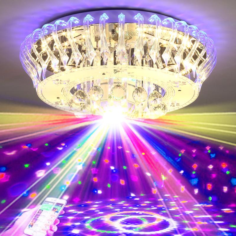 饭厅七彩变光吸顶吊灯