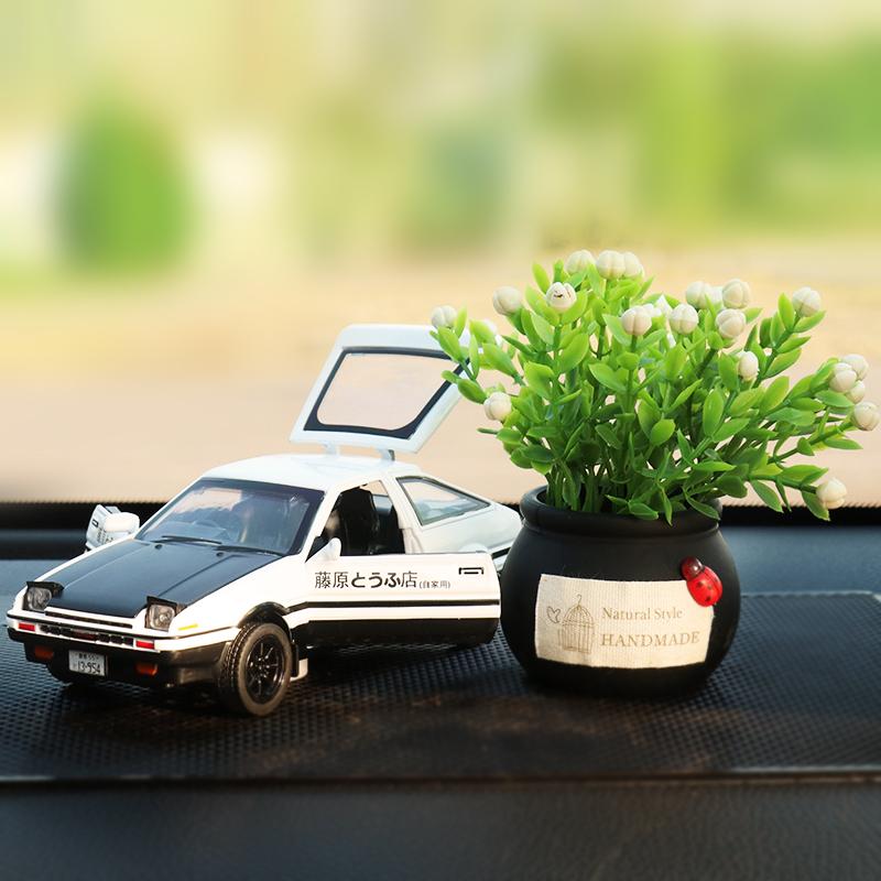 AE86合金车模汽车摆件中控台车载装饰品创意高档网红车内摆件香水