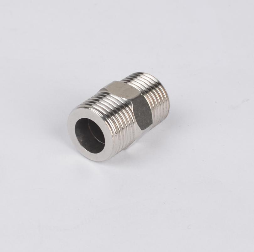 4分6分1寸铜不锈钢外丝直接对丝短丝对接进水管接头管件五金配件