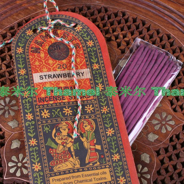 印度香薰正品 进口尼泊尔香线香薰家居长香料植物檀香料 天然熏香