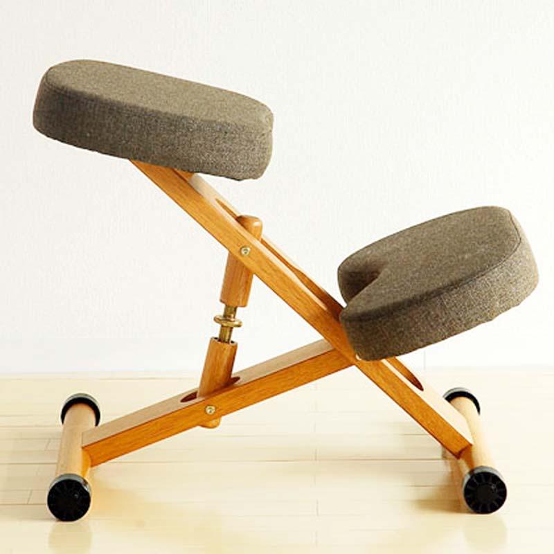 北歐矯正學習電腦椅實木學生椅升降工學防駝背跪椅正姿椅子