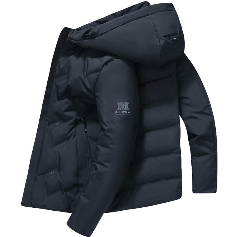 南极人羽绒服男短款冬季潮流青年加厚连帽白鸭绒保暖时尚男士外套
