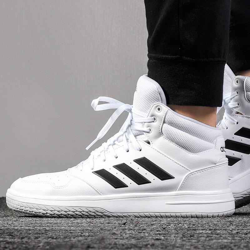 Adidas阿迪达斯男鞋小白鞋2020春季高帮板鞋运动时尚休闲鞋EG4235