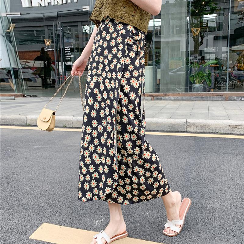 碎花半身长裙女夏2020新款波西米亚度假裙子系带雪纺一片式半身裙
