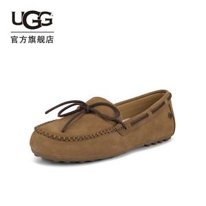 UGG2021春夏女士平底舒适豆豆鞋休闲乐福鞋一脚蹬鞋 1107965TS