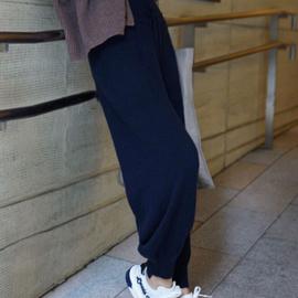 羊毛裤女外穿哈伦裤休闲运动长裤宽松打底小脚裤针织毛线裤高腰裤