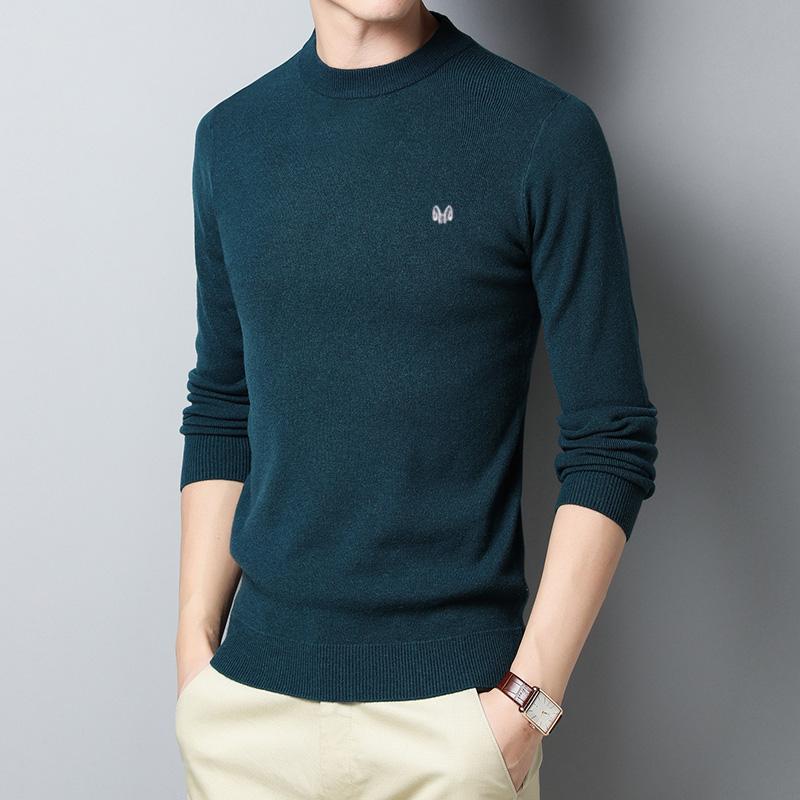恒源祥新款男士%純羊毛衫正品牌秋冬打底羊絨衫圓領套頭毛衣針織
