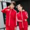 天天促销情侣韩版大码修身男女跑步卫衣运动服套装班服校服定制