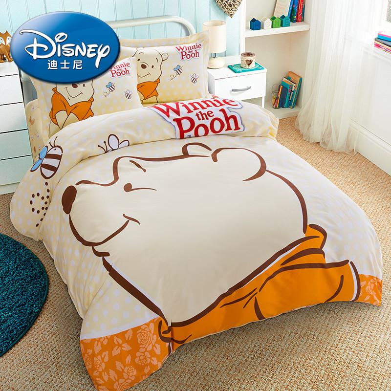 儿童纯棉四件套全棉卡通床单被套女床上用品三件套女孩床品公主风