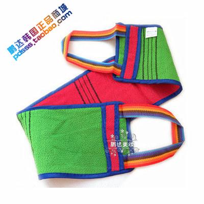 韓國進口雙面細紋加長拉背搓背搓澡巾沐浴手套洗澡專用 正品