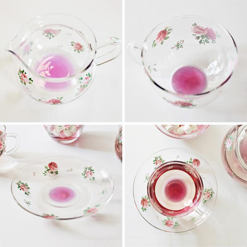 koji日本进口耐热水果茶壶玻璃杯