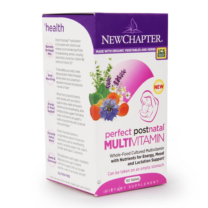 美国新章New Chapter孕妇产后专用综合维生素营养素矿物质192粒