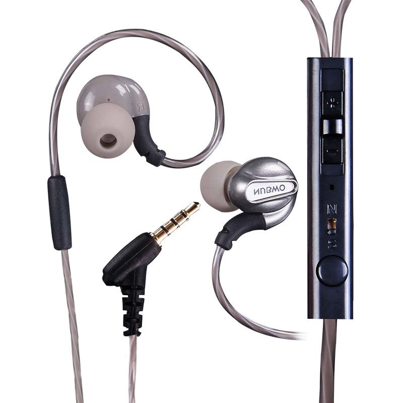 重低音耳机入耳式手机线控通用挂耳塞运动耳机 ny58 狼博旺 NUBWO