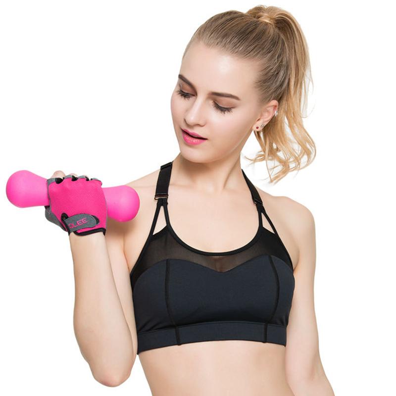 qlee運動手套女健身半指夏季薄款透氣啞鈴器械訓練防滑健身房手套