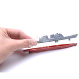 Genuine 4D assembled model ships battle eight Liaoning aircraft carrier military nuclear submarine simulation toy warship Decoration