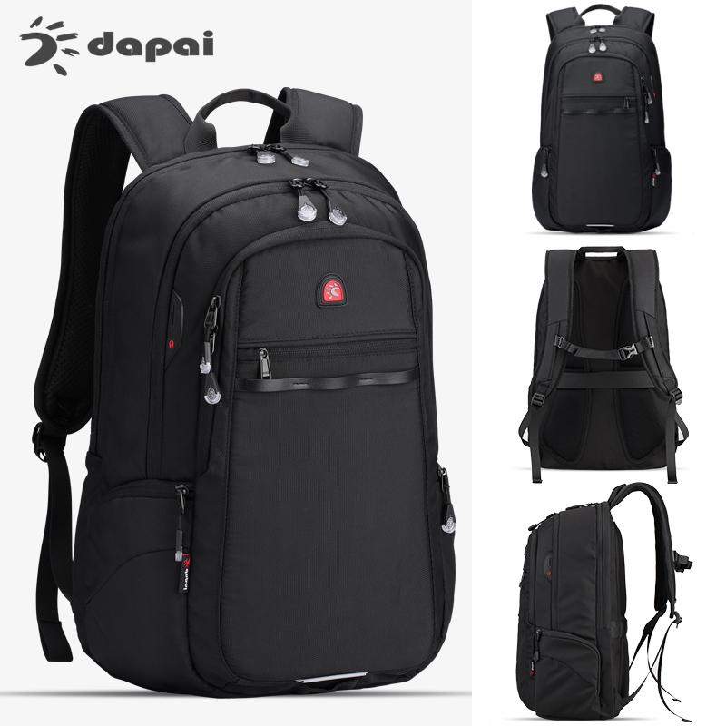 达派新款大容量旅行包商务电脑背包时尚简约高中生书包双肩包男潮