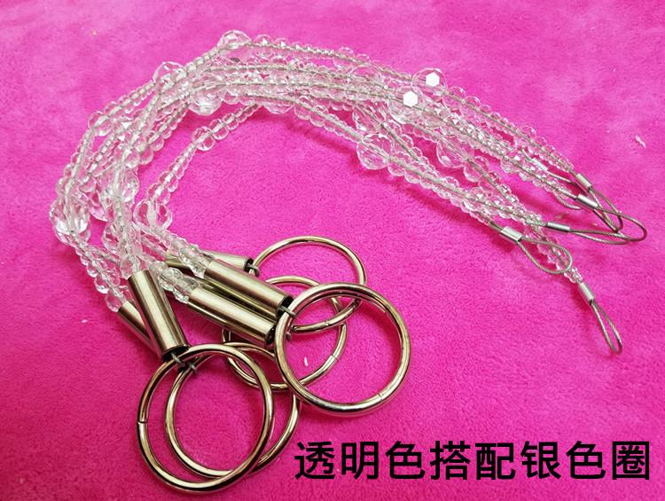 服装店吊环吊挂衣架 挂衣服的吊环 加长水晶珠链 上墙吊环展示架
