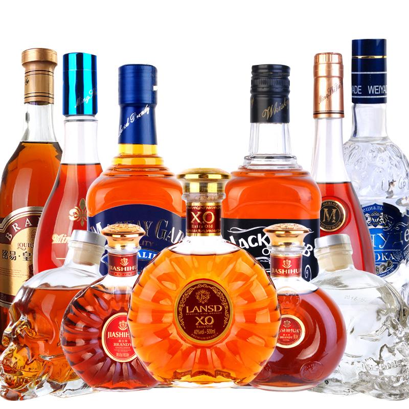 11 骷髅头共 蓝冰伏特加 朗斯德白兰地 瓶杰克俱乐部威士忌 11 洋酒