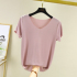 Short-sleeved 2020 summer new female thin Korean version of the modal T-shirt ice silk loose and thin large size solid color top