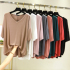 Summer modal short-sleeved T-shirt female Korean version of the V-neck loose large size thin t-shirt ins with a top and bottoming shirt
