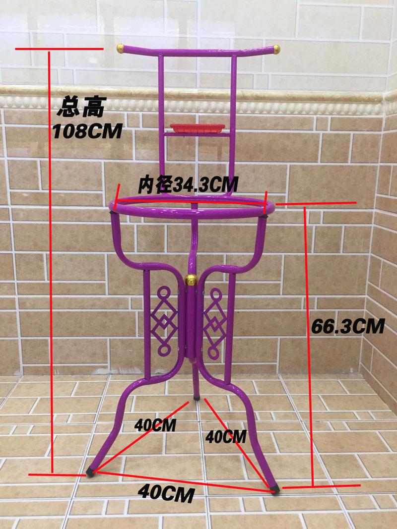 盆架卫生间浴室放盆架厨房落地三角置物盆宿舍厕所老式洗脸盆架
