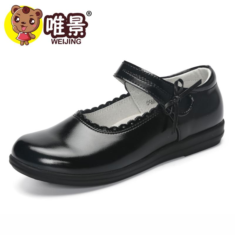 女童黑皮鞋大童软底真皮公主鞋儿童单鞋白色舞蹈英伦风学生演出鞋