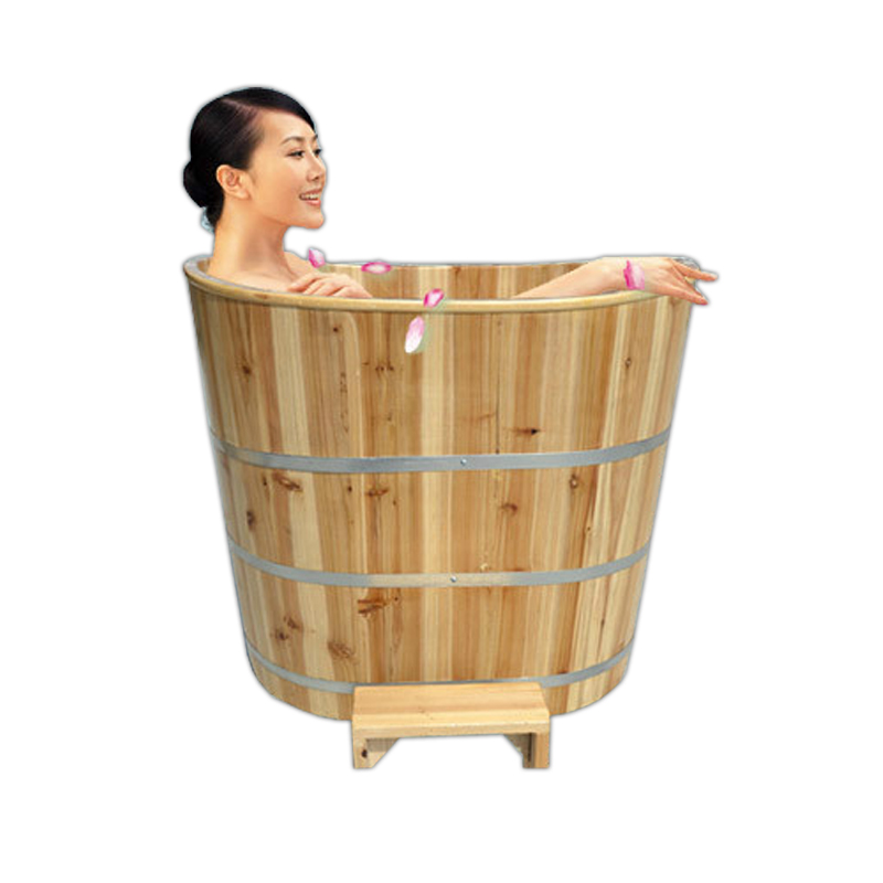 沐源加高形沐浴桶成人泡澡桶洗澡桶熏蒸木桶浴桶浴盆澡盆木桶浴桶