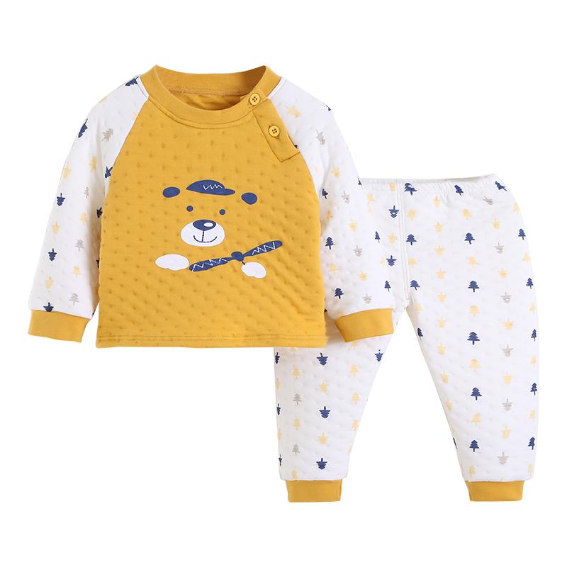 南极人儿童保暖内衣套装男童加厚夹棉婴儿秋冬小宝宝纯棉女童秋衣
