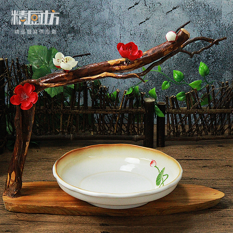 精厨坊酒店特色餐具大董意境菜创意餐具个性异形梅花造型禅意餐具
