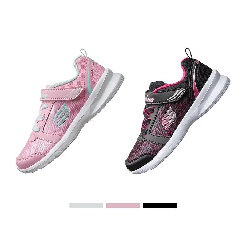 Skechers斯凯奇时尚女童鞋 中大童轻便魔术贴透气运动鞋996276L