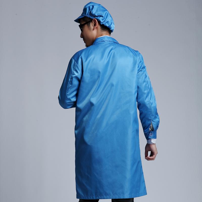 银珊瑚防辐射大褂带帽双层银纤维工作服男女款可定做SHD014
