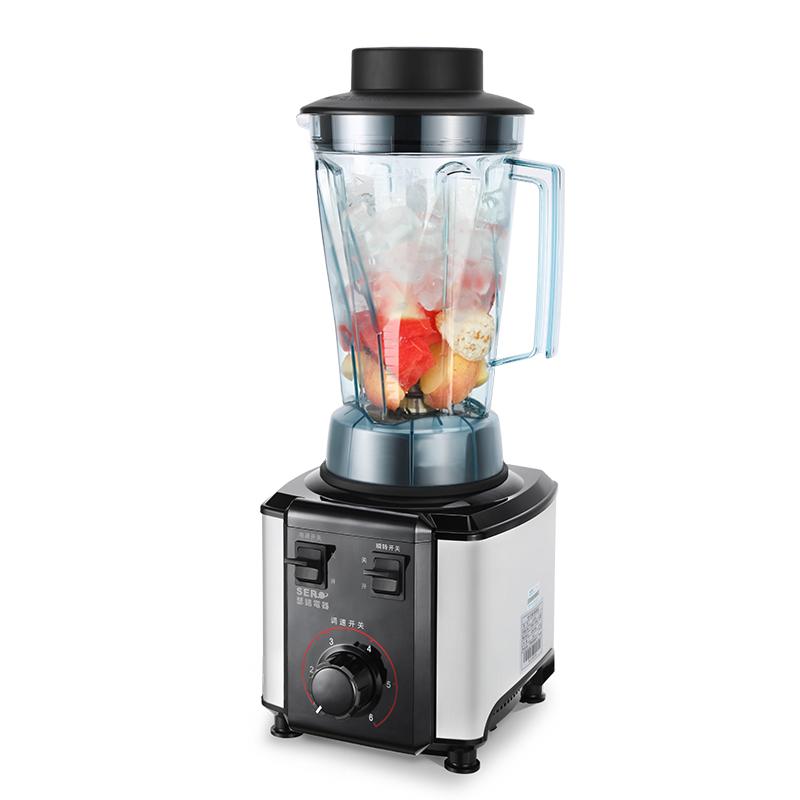 瑟诺SJ-6850沙冰机商用奶茶店果汁机碎冰刨冰奶昔家用豆浆冰沙机