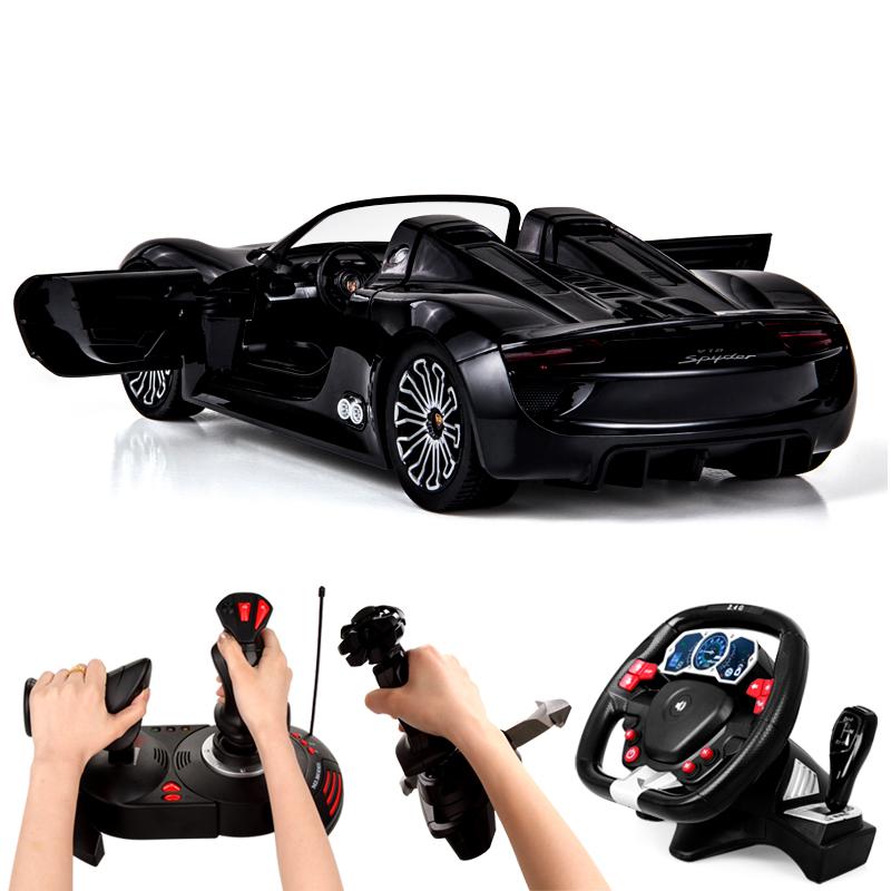 美致遙控汽車保時捷方向盤充電動男孩兒童玩具車高速賽車跑車模型
