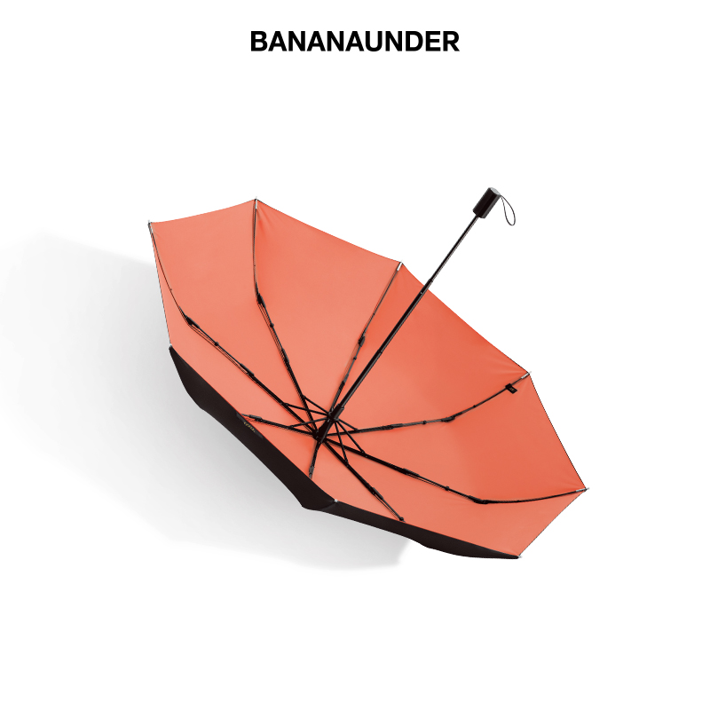 蕉下純色雙層防曬小黑傘女防紫外線太陽傘遮陽傘 BANANAUNDER