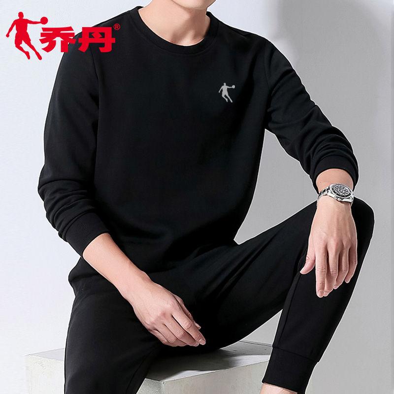 乔丹卫衣男圆领套头衫2020春季新款大码宽松运动休闲上衣长袖T恤