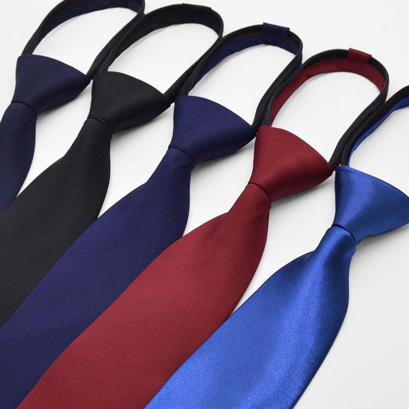 领带女职业正装商务时尚百搭英伦纯色懒人学生女士拉链领带学院风