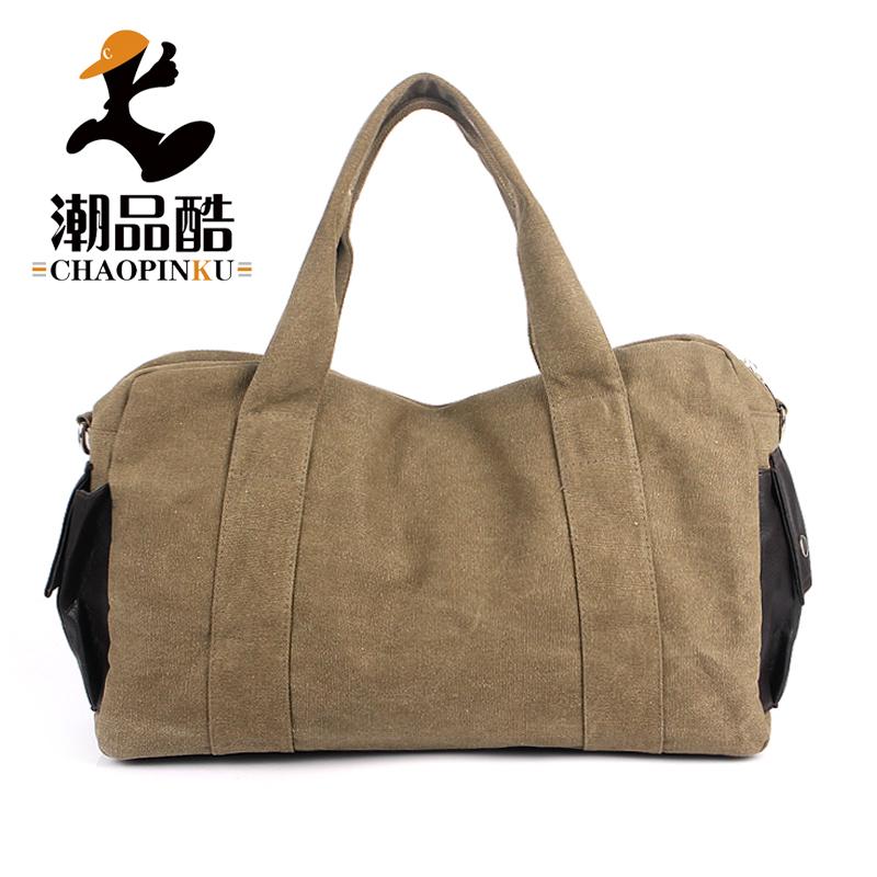 男士旅行包大容量行李包韩版休闲斜挎包轻便短途旅游运动帆布手提
