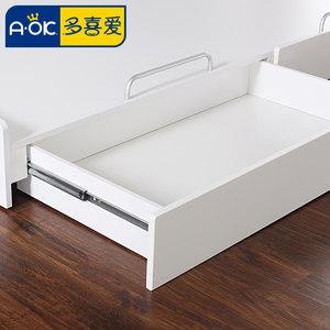 多喜爱 儿童家具 儿童拖床 配套拖床高低床 带储物箱 带滚轮床箱