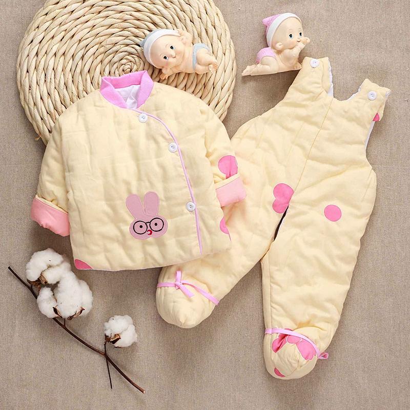 宝宝手工棉衣套装 纯棉花新生儿婴儿棉袄背带包脚棉裤 幼儿厚冬装