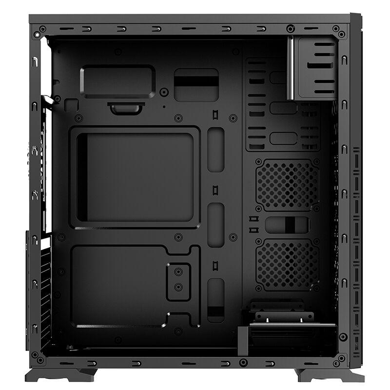 半岛铁盒 水平方ATX游戏全侧透电脑台式机机箱分体式USB3.0背线