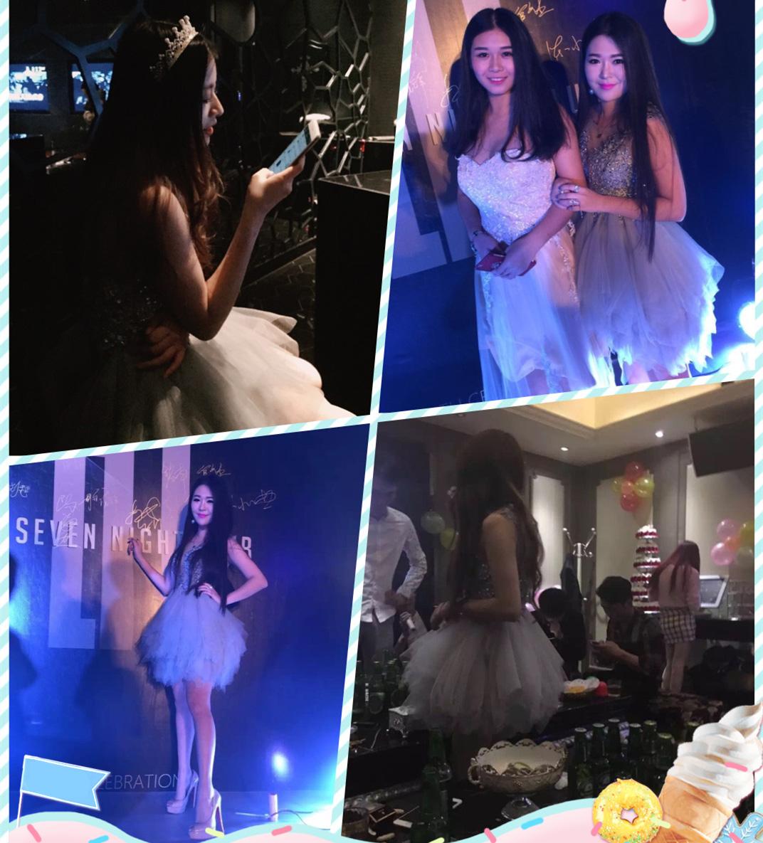 性感宴会晚礼服伴娘服气质短款生日派对夜场舞台主持小礼服蓬蓬裙