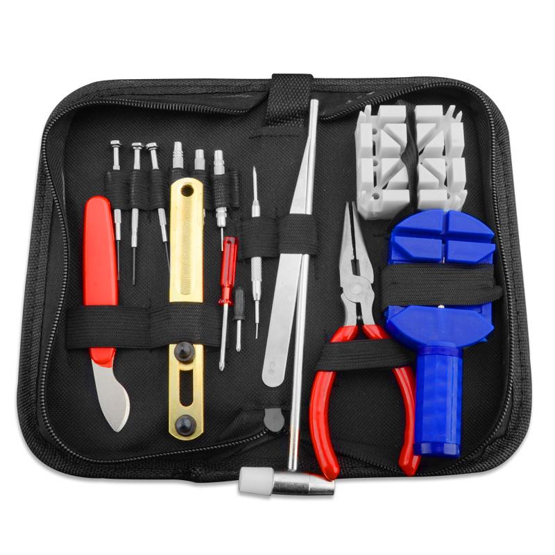 修表工具包钟表截表器手表开盖器表带调节器换电池工具套装维修包
