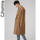 CJHOMME woolen dress male new thick Korean version of the wilder shoulder long section 2020 winter wool