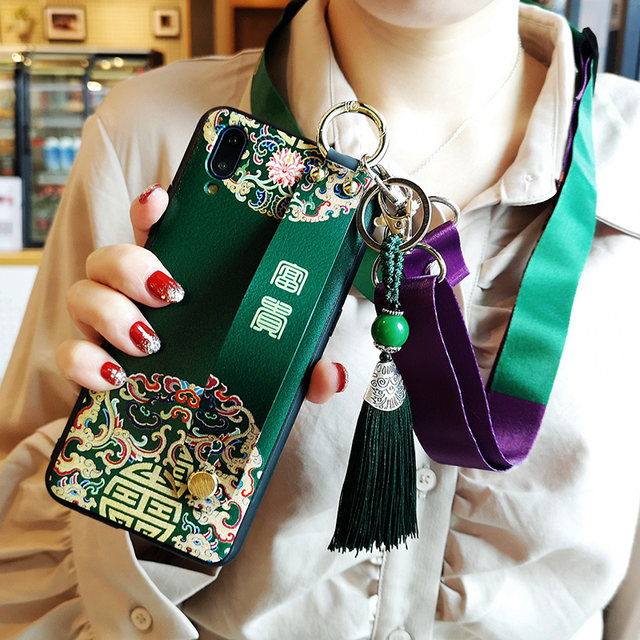Huawei glory 9XPRO mobile phone shell wristband x10 glory 8X Messe 20PRO / 20i all-inclusive V20 can be back glory Play3 lanyard wheat 8 anti-fall 10 Youth Edition Personality Creative Women