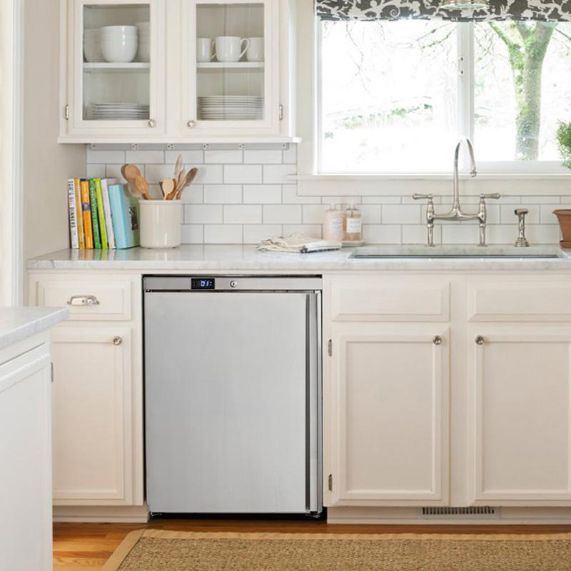 冰箱单门家用商用小型冷藏整体厨房不锈钢嵌入式 B1A HUS 哈士奇