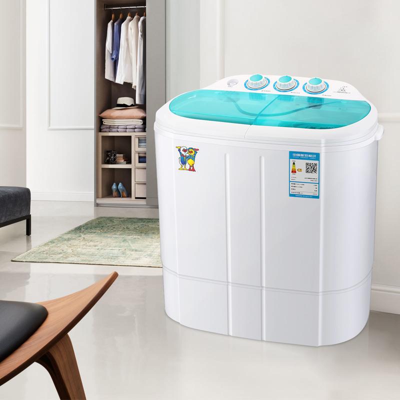 迷你洗衣机双桶缸小型婴儿童宝宝家用半全自动 1637S XPB25 小鸭牌
