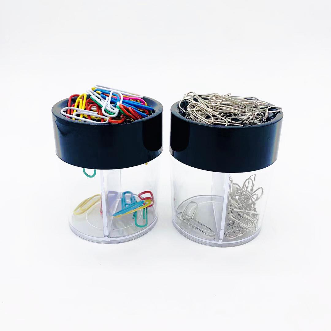 圆形回形针筒 回形针盒 曲别针回收筒圆形曲别针筒